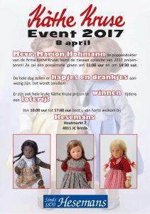 Kathe Kruse event 8 april 2017